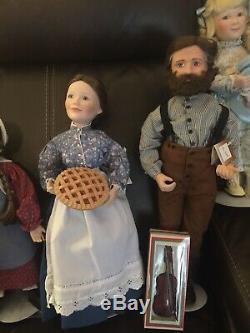 Set of 7 LITTLE HOUSE ON THE PRAIRIE DOLLS Ashton Drake MIB + COA Doll