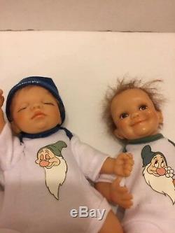 Snow White 7 Dwarfs Ashton Drake Prince Charming Seven Doll Collection Miniature