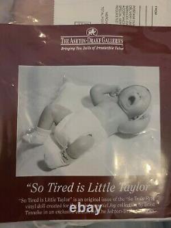 So Tired is Little Taylor Ashton Drake long FULL BOY BODY RETIRED LIMITED RARE