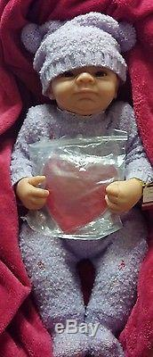 So Truly Real Baby Girl Doll Purple Pompom Angels Danced Ashton Drake New