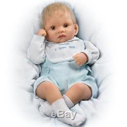 So Truly Real Touch-Activated Realistic Baby Doll Kyle Kisses Doll by Ashton