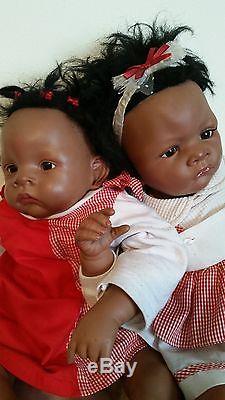 TWO Adorable Girls Ashton Drake Waltraud Hanl So Truly Real Vinyl