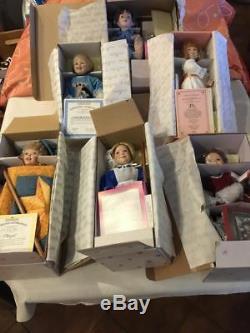 The Ashton Drake Galleries Porcelain Dolls Set Of 6 Dolls Coa Collection In Box