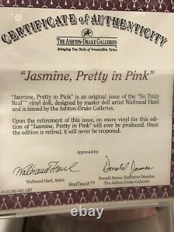 The Ashton-Drake Galleries So Truly Real Vinyl DollJasmine, Pretty In Pink(37)