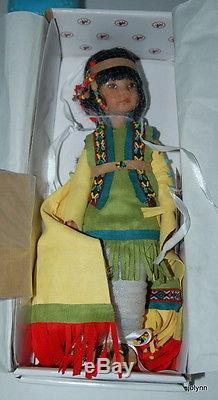Tiny Fancy Shawl Dancer Native American Doll by Dianna Effner for Ashton Drake