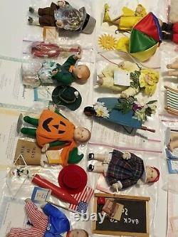 Vintage Ashton Drake 1995 Calendar Babies Complete Set of 12 Dolls w Extras Rare