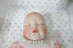 Vintage Ashton Drake Rock-A-Bye Life Like Porcelain Baby Doll with COA