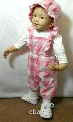 Vintage Beautiful little 28 in toddler girl doll By W Hani. For Ashton Drake