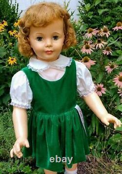 Vintage Reproduction Ashton Drake Green Velvet Dress For Ideal 35 Patti Playpal
