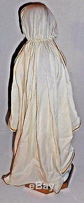 Virgin Mary Statue Doll Our Lady of Lourdes with Snake Ashton Drake 22 Cloth Cape