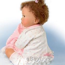 Waltraud Hanl Sweet Princess Poseable Baby Girl Doll-Realistic-Biracial Baby