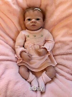 Weighted Baby Doll by Ashton Drake So Truly Real Lifelike Pink Bow Dress